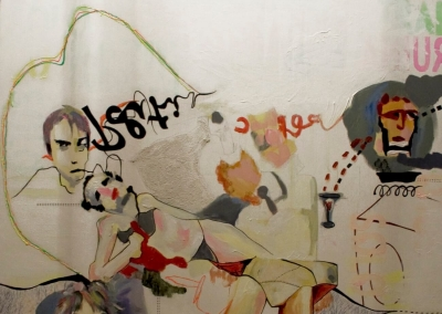 Future_120x120cm. Mixed media on canvas 2009